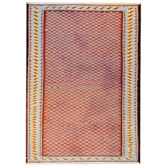 Beautiful Midcentury Senneh Kilim Rug