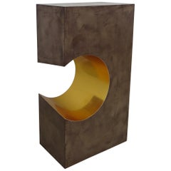 "Console ""C-Pillar"", Side Table, Bronze"