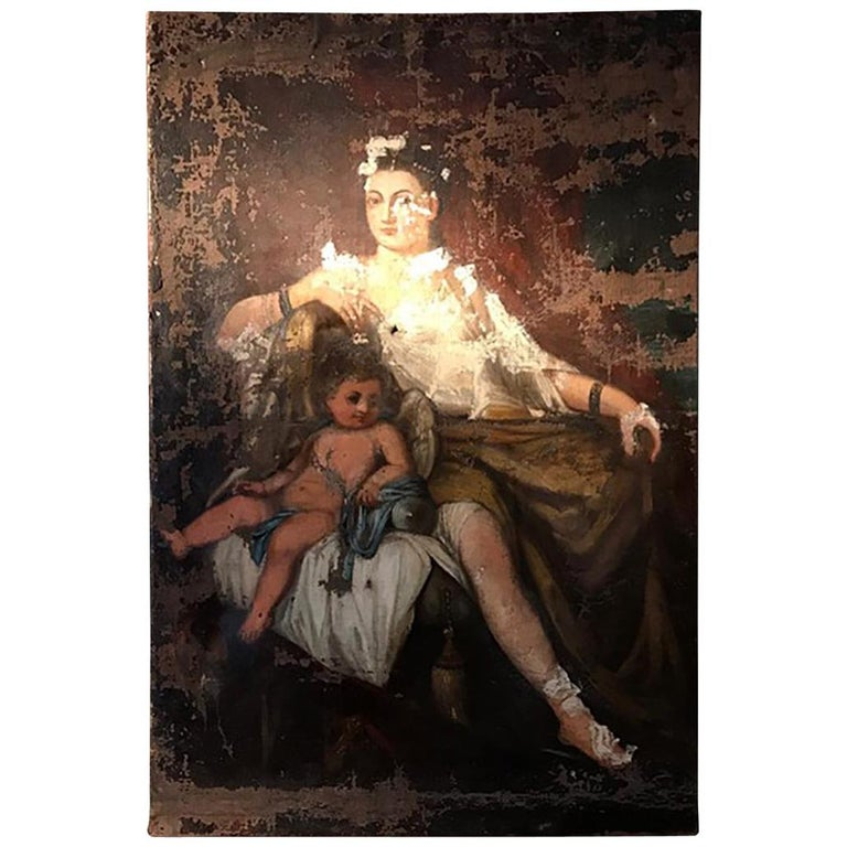 18th Century Oil on Canvas Painting For Sale