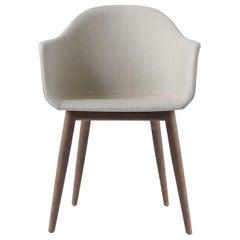 Harbour Chair, Dark Oak Legs, Grey Fabric