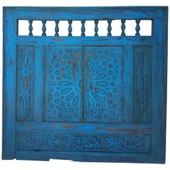 Moroccan White Wash Repurposed Wooden Frame, Double Doors