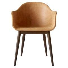 Harbour Chair, Dark Oak Legs, Cognac Leather
