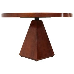Italian Midcentury Circular Dining Table by Vittorio Introini for Saporiti 1970s