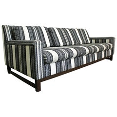 Mid Century Modern Striped 3 Seat Selig Imperial Sofa