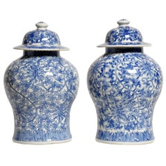 Chinese Blue and White Porcelain Jar with Lid