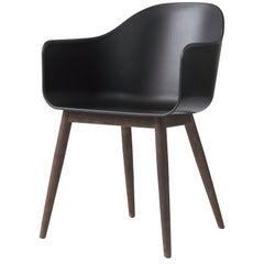 Harbour Chair, Dark Oak Legs, Black Shell