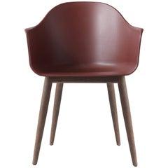 Harbour Chair, Dark Oak Legs, Red Shell