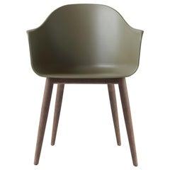 Harbour Chair, Dark Oak Legs, Green Shell