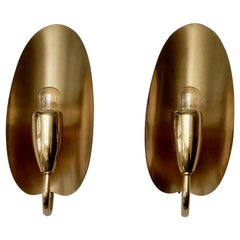 Pair of German Brass Wall Lights, 1960s