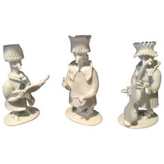 Rare Group of 3 Venini Figures Designed by Fulvio Bianconi for Venini