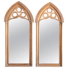 Pair of 1910s Fine Mirrors from a Bishop Abode with Ecclesiastical Symbols