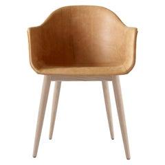 Harbour Chair, Natural Oak, Cognac Leather