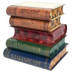Italian Tole Books Stack Table
