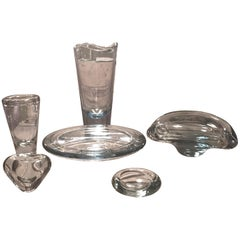 Set of Vintage Royal Copenhagen Glass Designed by Per Lütken for Holmegaard
