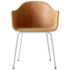 Harbour Chair, White Legs, Cognac Leather