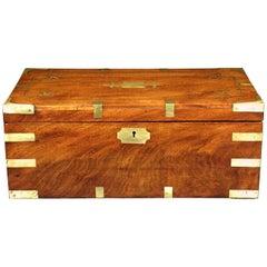 Very Good Georgian Brass Bound Mahogany Writing Box / Slope, England Circa 1820