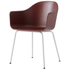 Harbour Chair, White Legs, Red Shell