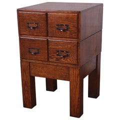 Antique Oak Library Card Catalog by Weis