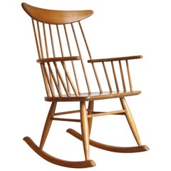 Rocking Chair Spindle Back Made by Conant Ball