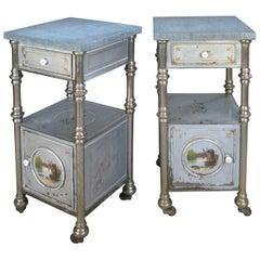 Pair of 19th Century Painted Steel Nightstands