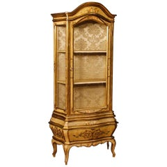 20th Century Painted and Gilded Wood Venetian Vitrine, 1960