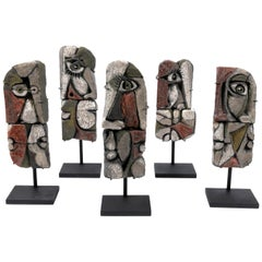 Roger Capron Abstract Ceramic Sculptures, France, 1990s