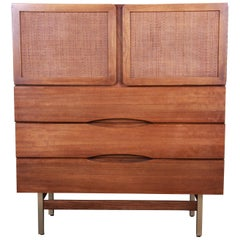 American of Martinsville Mid-Century Modern Walnut Gentleman's Chest