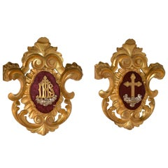 Pair of 19th Century Ecclesiastical Plaques