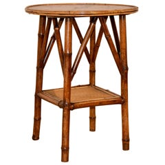 19th Century Bamboo Side Table