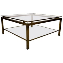 Maison Jansen Two-Tier Brass Coffee Table