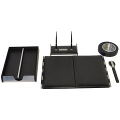 Executive Leather Desk Set