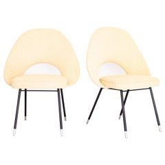 1950s Pair of Armchairs in Iron and Bouclé, Brazilian Mid-Century Modern