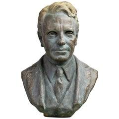 Bronze Bust of a Rhode Island Yacht Club President, circa 1940