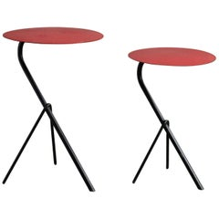 Pair of Matégot Side Tables, France, circa 1950