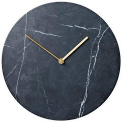 Marble Wall Clock, Black, Designed by Norm Architects