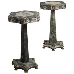 Pair of Marble and Ormolu Pedestals, America, circa 1910
