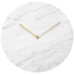 Marble Wall Clock, White, Designed by Norm Architects