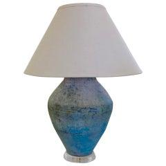 Large Stoneware Vessel Lamp