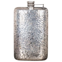 Patinated Apollo Silver Co. Hammered Flask, circa 1920
