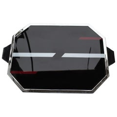 Large Art Deco Modernist Tray with Geometric Design