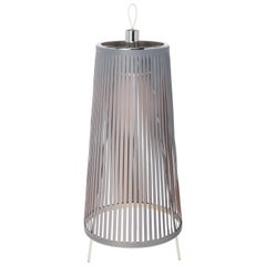 Solis 24 Freestanding Lamp in Silver by Pablo Designs