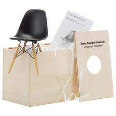 Vitra Miniature DSW Chair in Black by Charles & Ray Eames