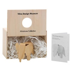 Vitra Miniature Plywood Elephant in Natural by Charles & Ray Eames