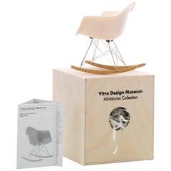 Vitra Miniature RAR Chair in White by Charles & Ray Eames