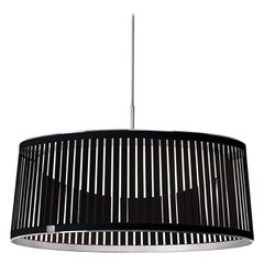 Solis Drum 24 Pendant Light in Black by Pablo Designs