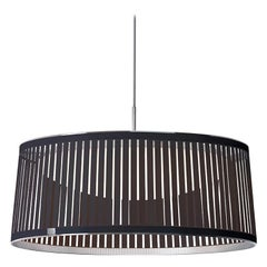 Solis Drum 24 Pendant Light in Brown by Pablo Designs