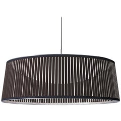 Solis Drum 36 Pendant Light in Brown by Pablo Designs