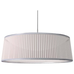 Solis Drum 36 Pendant Light in White by Pablo Designs