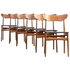 1960s Schionning and Elgaard Teak Dining Chair for Randers Set of Six