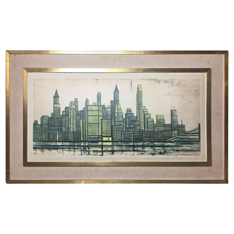 Bernard Buffet New York Skyline Limited Edition Drypoint Print